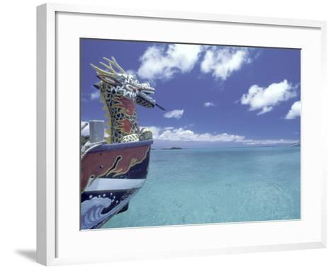 Dragon Boat, Okinawa, Japan-Dave Bartruff-Framed Art Print