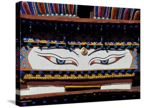 Buddha Eyes at Kumbum, Tibet-Vassi Koutsaftis-Stretched Canvas Print