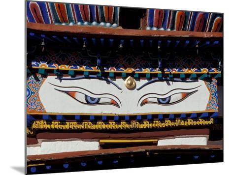 Buddha Eyes at Kumbum, Tibet-Vassi Koutsaftis-Mounted Photographic Print