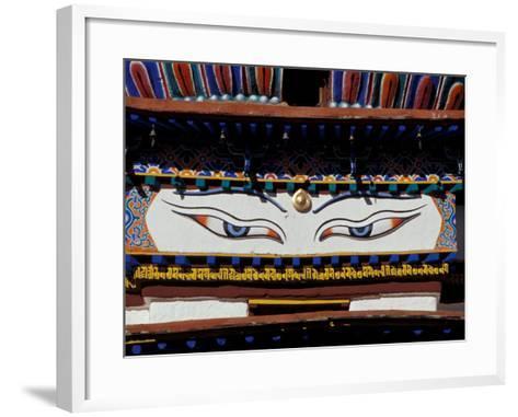 Buddha Eyes at Kumbum, Tibet-Vassi Koutsaftis-Framed Art Print