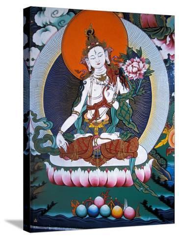 White Tara from Monastery Wall, Lhasa, Tibet-Vassi Koutsaftis-Stretched Canvas Print