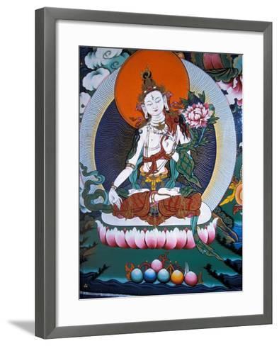 White Tara from Monastery Wall, Lhasa, Tibet-Vassi Koutsaftis-Framed Art Print