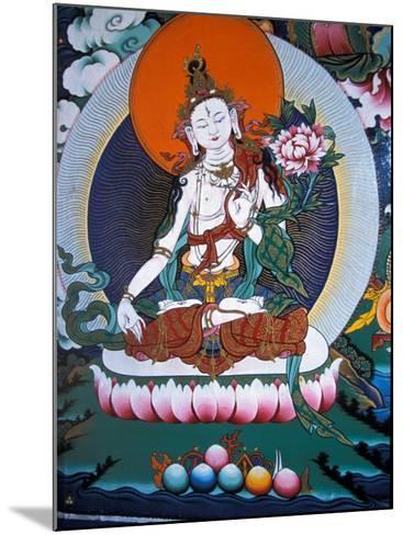 White Tara from Monastery Wall, Lhasa, Tibet-Vassi Koutsaftis-Mounted Photographic Print
