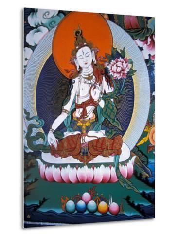 White Tara from Monastery Wall, Lhasa, Tibet-Vassi Koutsaftis-Metal Print