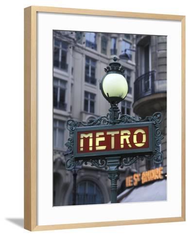 Metro Signage in Paris, France-Bill Bachmann-Framed Art Print