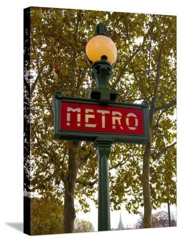 Metro, Paris, France-Lisa S^ Engelbrecht-Stretched Canvas Print