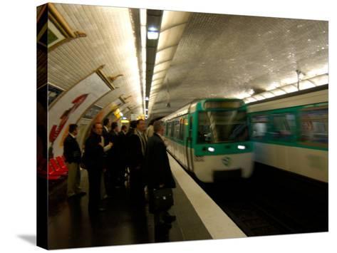 Commuters Inside Metro Station, Paris, France-Lisa S^ Engelbrecht-Stretched Canvas Print