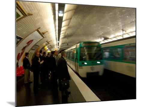Commuters Inside Metro Station, Paris, France-Lisa S^ Engelbrecht-Mounted Photographic Print