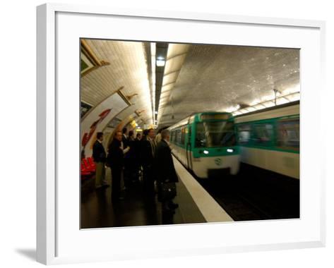 Commuters Inside Metro Station, Paris, France-Lisa S^ Engelbrecht-Framed Art Print