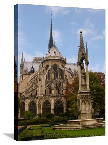 Flying Buttresses of Notre-Dame, Paris, France-Lisa S^ Engelbrecht-Stretched Canvas Print