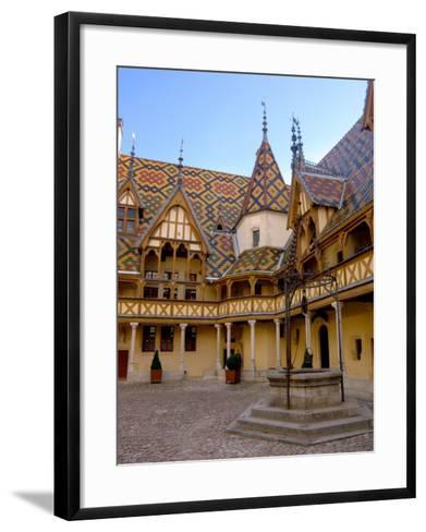 Well in Hotel-Dieu Courtyard, Beaune, Burgundy, France-Lisa S^ Engelbrecht-Framed Art Print