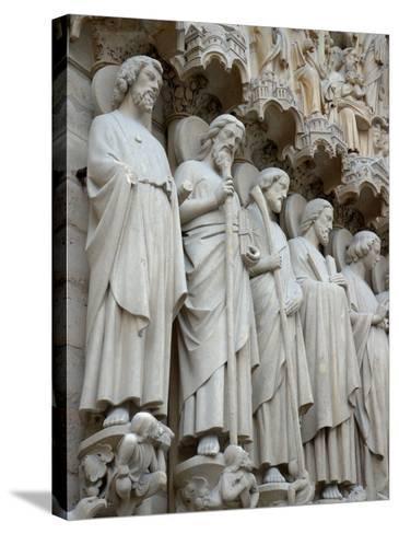 Sculptures on Notre-Dame, Paris, France-Lisa S^ Engelbrecht-Stretched Canvas Print