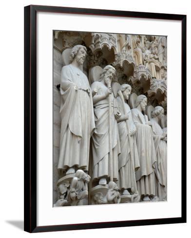 Sculptures on Notre-Dame, Paris, France-Lisa S^ Engelbrecht-Framed Art Print