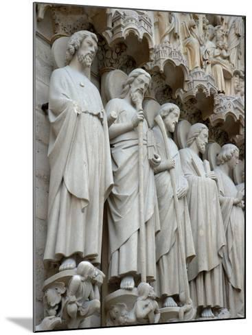 Sculptures on Notre-Dame, Paris, France-Lisa S^ Engelbrecht-Mounted Photographic Print