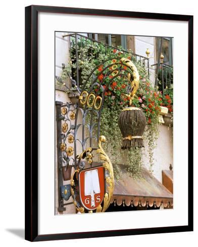 Traditional Handcrafted Sign, Munich, Germany-Adam Jones-Framed Art Print