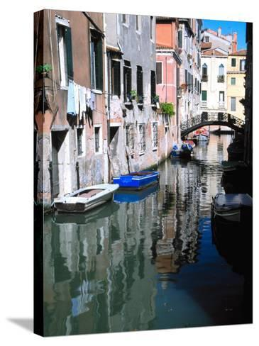 Canal in Venice, Italy-Julie Eggers-Stretched Canvas Print