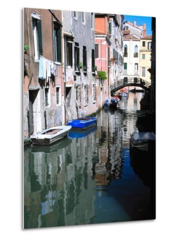 Canal in Venice, Italy-Julie Eggers-Metal Print