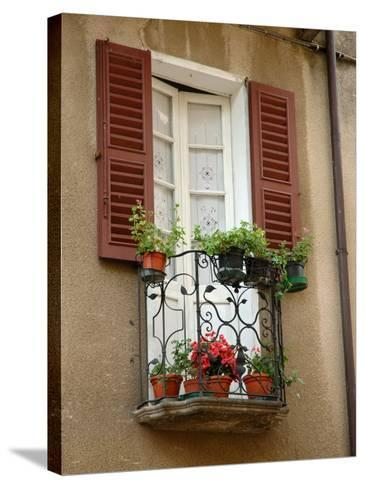 Window Detail, Lake Orta, Orta, Italy-Lisa S^ Engelbrecht-Stretched Canvas Print