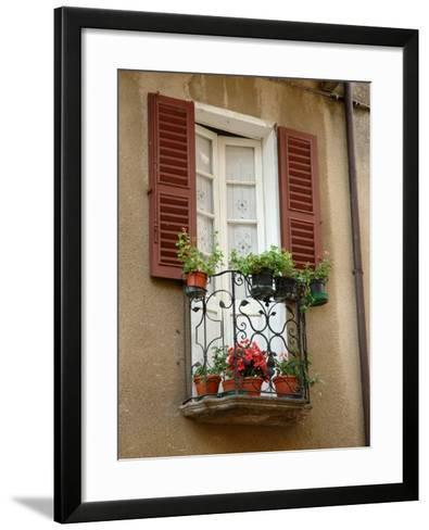 Window Detail, Lake Orta, Orta, Italy-Lisa S^ Engelbrecht-Framed Art Print