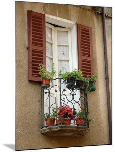 Window Detail, Lake Orta, Orta, Italy-Lisa S^ Engelbrecht-Mounted Photographic Print