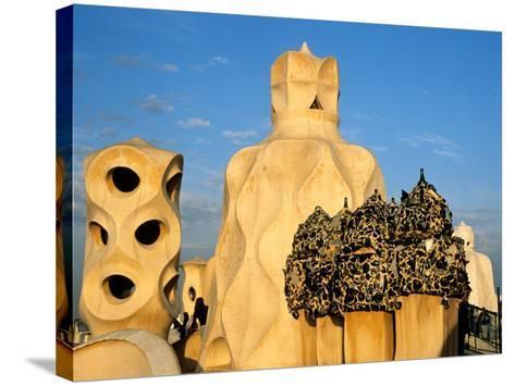 Antonio Gaudi's La Pedrera, Casa Mila, Barcelona, Spain-David Barnes-Stretched Canvas Print