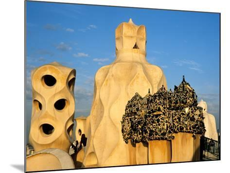 Antonio Gaudi's La Pedrera, Casa Mila, Barcelona, Spain-David Barnes-Mounted Photographic Print