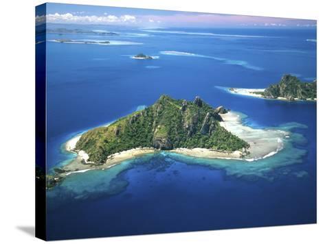 Aerial of Maolo Island, Mamanuca Islands, Fiji-David Wall-Stretched Canvas Print
