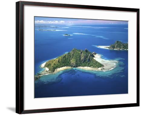 Aerial of Maolo Island, Mamanuca Islands, Fiji-David Wall-Framed Art Print
