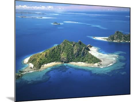 Aerial of Maolo Island, Mamanuca Islands, Fiji-David Wall-Mounted Photographic Print