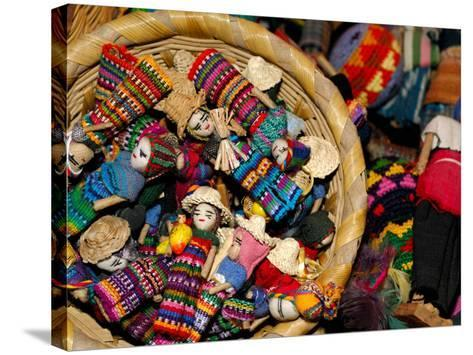 Finger Dolls, Traditional Textiles, Textile Museum, Casa del Tejido, Antigua, Guatemala-Cindy Miller Hopkins-Stretched Canvas Print