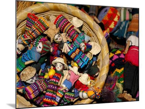 Finger Dolls, Traditional Textiles, Textile Museum, Casa del Tejido, Antigua, Guatemala-Cindy Miller Hopkins-Mounted Photographic Print