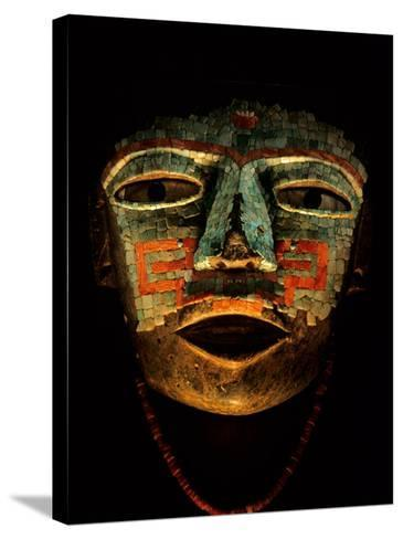 Turquoise, Mosaic, Mask, Teotihuacan, Mexico-Kenneth Garrett-Stretched Canvas Print