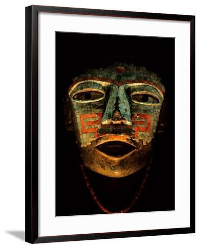 Turquoise, Mosaic, Mask, Teotihuacan, Mexico-Kenneth Garrett-Framed Art Print
