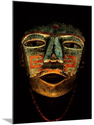 Turquoise, Mosaic, Mask, Teotihuacan, Mexico-Kenneth Garrett-Mounted Photographic Print