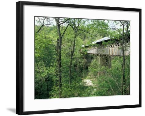 Horton Mill Covered Bridge, Alabama, USA-William Sutton-Framed Art Print