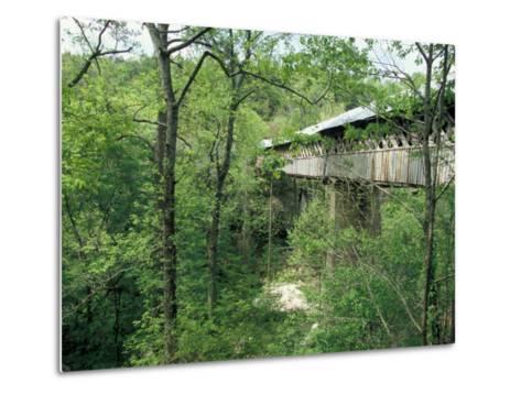 Horton Mill Covered Bridge, Alabama, USA-William Sutton-Metal Print