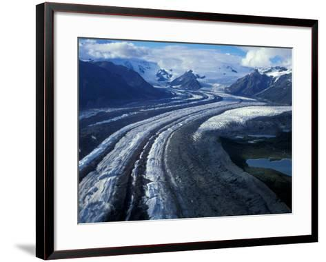 Mt. Blackburn and the Wrangell-St. Elias Mountains Above Kennicott and Root Glaciers, Alaska, USA-Hugh Rose-Framed Art Print