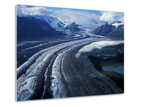 Mt. Blackburn and the Wrangell-St. Elias Mountains Above Kennicott and Root Glaciers, Alaska, USA-Hugh Rose-Metal Print
