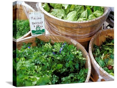 Herbs and Greens, Ferry Building Farmer's Market, San Francisco, California, USA-Inger Hogstrom-Stretched Canvas Print