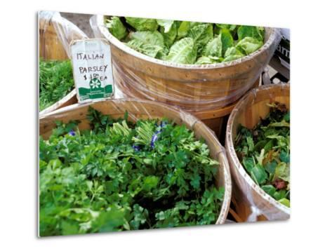Herbs and Greens, Ferry Building Farmer's Market, San Francisco, California, USA-Inger Hogstrom-Metal Print