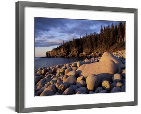 Otter Cliffs Fom Monument Cove, Maine, USA-Jerry & Marcy Monkman-Framed Art Print