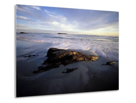 Low Tide and Surf, Wallis Sands State Park, New Hampshire, USA-Jerry & Marcy Monkman-Metal Print