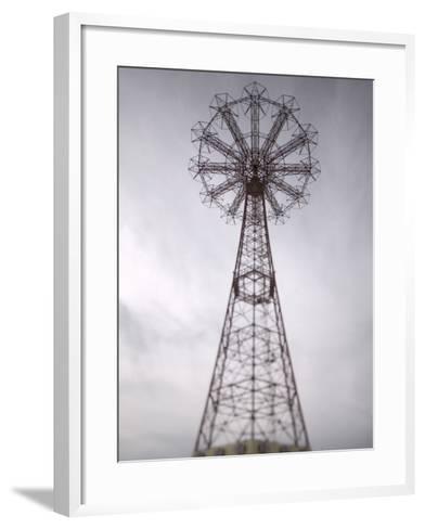 Parachute Jump Tower, Coney Island, Brooklyn, New York, USA-Walter Bibikow-Framed Art Print