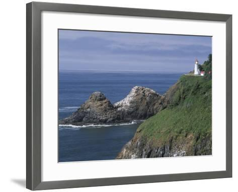 Heceta Head Lighthouse and Seastacks, Cape Sebestian, Oregon, USA-John & Lisa Merrill-Framed Art Print