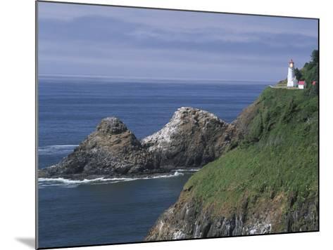 Heceta Head Lighthouse and Seastacks, Cape Sebestian, Oregon, USA-John & Lisa Merrill-Mounted Photographic Print