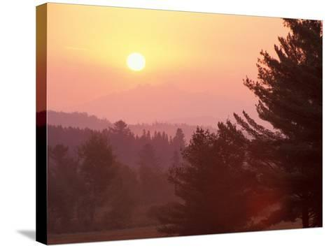 Sunrise in the Nulhegan River Valley, Northern Forest, Island Pond, Vermont, USA-Jerry & Marcy Monkman-Stretched Canvas Print