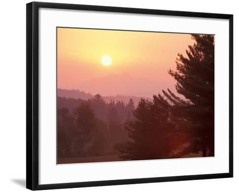 Sunrise in the Nulhegan River Valley, Northern Forest, Island Pond, Vermont, USA-Jerry & Marcy Monkman-Framed Art Print