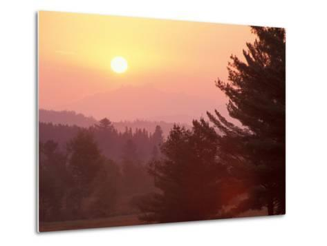 Sunrise in the Nulhegan River Valley, Northern Forest, Island Pond, Vermont, USA-Jerry & Marcy Monkman-Metal Print