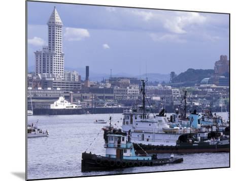 Tugboats, Seattle Maritime Festival, Washington, USA-William Sutton-Mounted Photographic Print