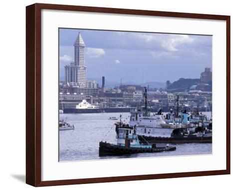 Tugboats, Seattle Maritime Festival, Washington, USA-William Sutton-Framed Art Print
